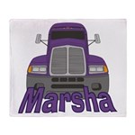 Trucker Marsha Throw Blanket