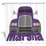 Trucker Marsha Shower Curtain