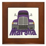 Trucker Marsha Framed Tile