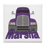 Trucker Marsha Tile Coaster