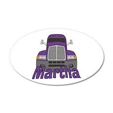 Trucker Martha 20x12 Oval Wall Decal