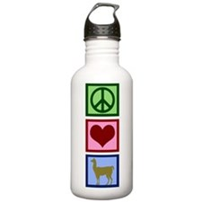 Peace Love Llamas Water Bottle