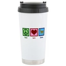 Peace Love Llamas Ceramic Travel Mug