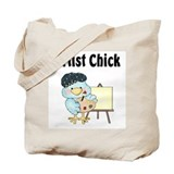 Tweeting Artist Chick Tote Bag