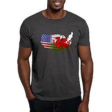 American Welsh Map T-Shirt