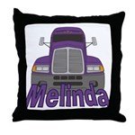 Trucker Melinda Throw Pillow