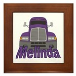 Trucker Melinda Framed Tile