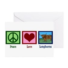 Peace Love Longhorns Greeting Cards (Pk of 20)