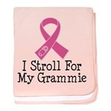 I Stroll For My Grammie baby blanket