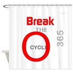 OYOOS Break the Cycle design Shower Curtain