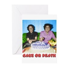 Cake or Death Greeting Cards (6)