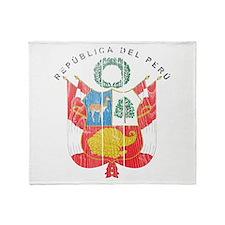 Peru Coat Of Arms Throw Blanket