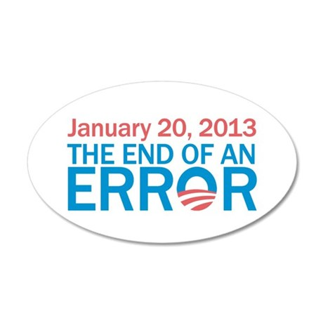 The End Of An Error 20x12 Oval Wall Decal