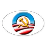 O Logo with Hammer and Sickle Sticker (Oval 10 pk)