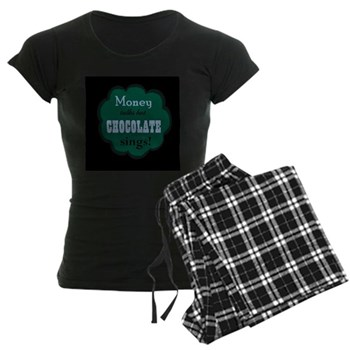 Chocolate Sings Women's Dark Pajamas