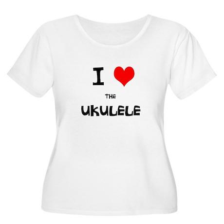 I HEART the UKULELE Women's Plus Size Scoop Neck T