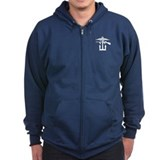 Combined Operations B-W Zip Hoody