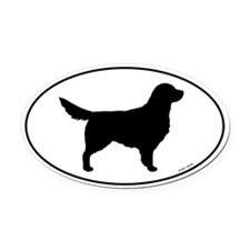 Golden Retriever Oval Car Magnet