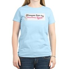 Everyone Loves a Strawberry B Women's Pink T-Shirt