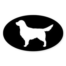 White Golden Retriever Decal
