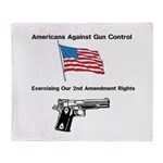 Second Amendment Throw Blanket