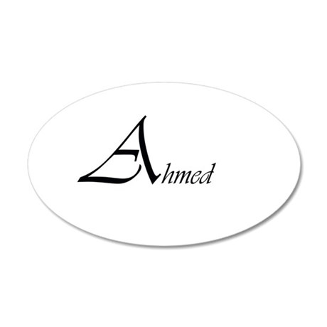 Ahmed.png 20x12 Oval Wall Decal