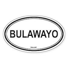 Bulawayo, Zimbabwe euro Oval Decal