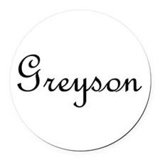 Greyson.png Round Car Magnet