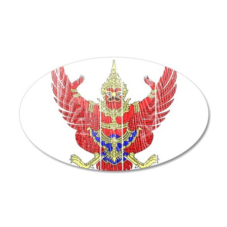 Thailand Coat Of Arms 20x12 Oval Wall Decal