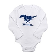 Funny Mustang Long Sleeve Infant Bodysuit