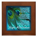 Night Watchman Framed Tile