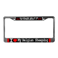NB_Belgian Sheepdog License Plate Frame