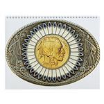 Indian gold oval 3 Wall Calendar