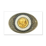 Indian gold oval 3 20x12 Wall Decal