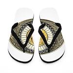 Indian gold oval 3 Flip Flops