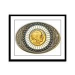 Indian gold oval 3 Framed Panel Print