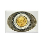 Indian gold oval 3 Rectangle Magnet