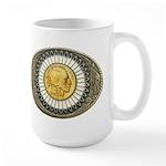 Indian gold oval 3 Large Mug