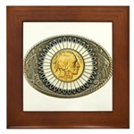 Indian gold oval 3 Framed Tile