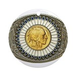 Indian gold oval 3 Ornament (Round)