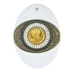 Indian gold oval 3 Ornament (Oval)