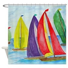 Colorful Sails Shower Curtain