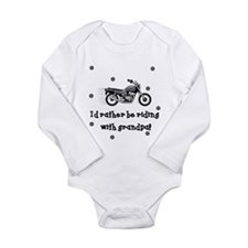 Cool Biker Long Sleeve Infant Bodysuit