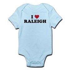 I Love Raleigh North Carolina Infant Bodysuit