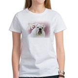 bulldog with pink background Tee
