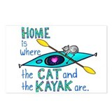 Cat and Kayak Postcards (Package of 8)