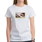Creation of Knitting Women's T-Shirt
