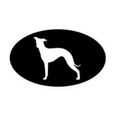 Italian Greyhound Oval Car Magnet