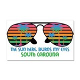 Sun Here Burns My Eyes_Beach_SC.png Car Magnet 20