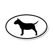 Mini Bull Terrier Oval Car Magnet
